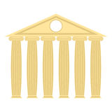 Greek temple with columns and roof. Vector illustration of ancie Royalty Free Stock Photography