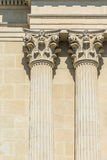 Greek Temple Corinthian Columns Stock Photos