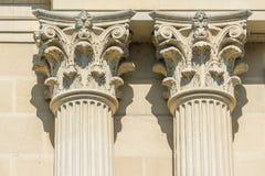 Greek Temple Corinthian Columns. Ancient Stone Temple Corinthian Columns Stock Photography