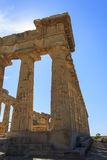 Greek Temple E at Selinus in Selinunte - Sicily, Italy Stock Images