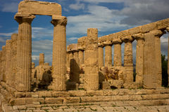 Greek Temple of Hera - Sicily Royalty Free Stock Photo