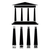 Greek temple icon Royalty Free Stock Images