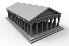 Greek temple illustration Stock Photography