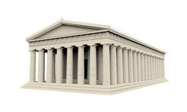 Greek Temple Isolated. On white background. 3D render Royalty Free Stock Photography