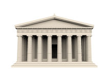 Greek Temple Isolated. On white background. 3D render Stock Image