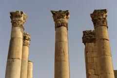 Greek temple at Jerash Stock Images