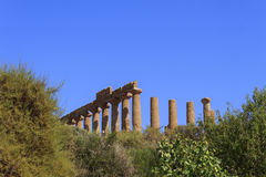 Greek Temple of Juno in Agrigento - Sicily, Italy Stock Photos