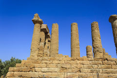 Greek Temple of Juno in Agrigento - Sicily, Italy Stock Photography