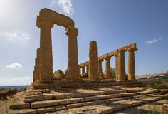 Temple of Juno in the Valley of the Temples, Agrigento, Italy. The greek temple of Juno in the Valley of the Temples, Agrigento, Italy Stock Images