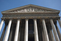 Greek Temple, Madeleine Church, Paris, France Stock Images