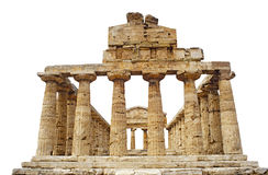 Greek Temple Of Athena In Paestum, Italy Stock Photography