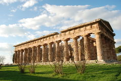 Greek temple in Paestum Stock Image