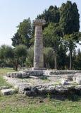 Greek temple paestum Stock Photography