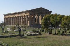 Greek temple paestum Stock Image
