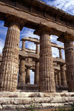 Greek temple at Paestum, Italy Stock Photo