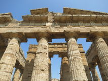 Greek Temple at Paestum Italy Royalty Free Stock Photos