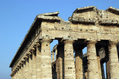 Greek temple in Paestum, Italy Stock Image