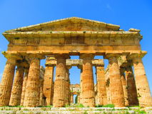 Greek temple at Paestum Royalty Free Stock Photos