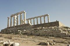 Greek temple  of Poseidon facade Royalty Free Stock Photography