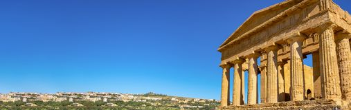 Greek temple - remains of the Temple of Concordia. Agrigento, Sicily, in Italy royalty free stock photography