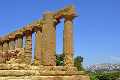 Greek temple ruins Stock Photos