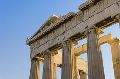 Greek temple ruins Royalty Free Stock Images