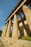 Greek temple ruins in Greece Stock Image