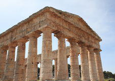 Greek temple at Segesta Sicily Italy Stock Photo