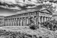 Greek Temple of Segesta Stock Images