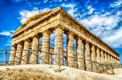 Greek Temple of Segesta Stock Photo