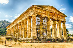 Greek Temple of Segesta Stock Photography