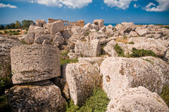 Greek temple in Selinunte Royalty Free Stock Photography