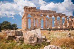 Greek temple in Selinunte Stock Image