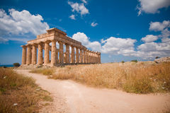 Greek temple in Selinunte Stock Image