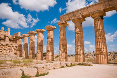 Greek temple in Selinunte Stock Photos