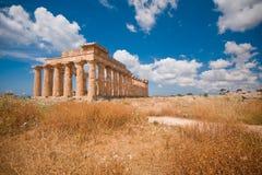 Greek temple in Selinunte Royalty Free Stock Photo