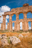 Greek temple in Selinunte Royalty Free Stock Photos