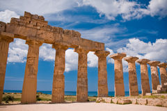 Greek temple in Selinunte Royalty Free Stock Image