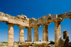 Greek Temple in Selinunte Sicily Stock Photo