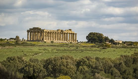 Greek temple in Selinus Stock Photo