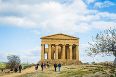Greek Temple on Sicily island. Stock Images