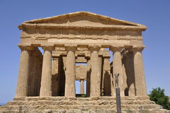 Greek temple in Sicily. Italy. royalty free stock image