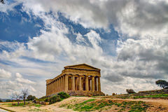 Greek temple in Sicily Stock Photography