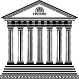 Greek temple stencil second variant Royalty Free Stock Image