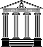 Greek temple stencil third variant Stock Image