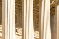 Greek Temple Stone Columns Stock Image