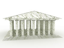 Greek temple #1. Greek temple on white background #1 Royalty Free Stock Images