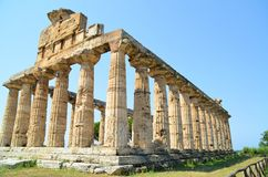 Greek temples of Paestum Royalty Free Stock Images