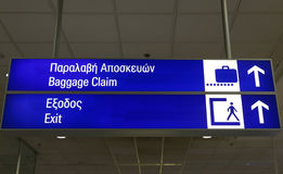 Greek Terminal Info Board Royalty Free Stock Images