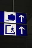 Greek Terminal Info Board Stock Image